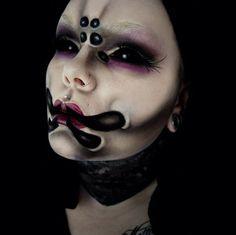 skull face sci fi makeup - Google Search