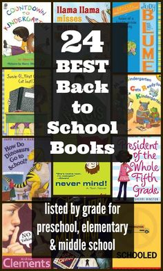 24 Best First Day of School Books & Back o School read alouds organized by grade level for Preschool, and middle school kids - Edventures with Kids School Kids, Middle School, First Day Of School Pictures, Back To School Checklist, Fun Learning, Learning Activities, Chapter Books, Read Aloud, Elementary Schools