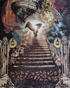 Mosaic Designs Stairway To Heaven - Mosaics - Mosaic Art - Album Cover Reproduction - Led Zepplin - Mosaic Artwork - Contemporary Mosaics - Custom Mosaics | #Mozaico