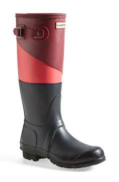Hunter 'Original - Asymmetric Colorblock' Waterproof Rain Boot (Women) available at #Nordstrom