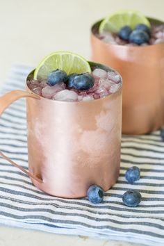 Blueberry Moscow Mules - Yum!