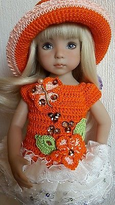 "OOAK Outfit for doll 13"" Dianna Effner Little Darling hand made"