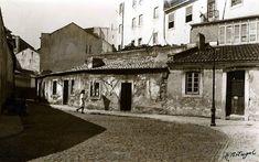 Lisboa de Antigamente: Travessa da Trabuqueta - 1940 (à esquerda, Rua do Arco de Alcântara).