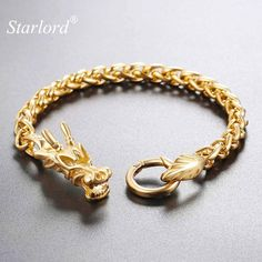 Brand Name:Starlord Item Type:Bracelets Fine or Fashion:Fashion Chain Type:Link Chain Metals Type:Copper Alloy Compatibility:All Compatible Clasp Type:Easy-hook Bracelets For Men, Bracelet Men, Chinese Dragon, Star Lord, Colorful Fashion, Types Of Metal, Stainless Steel, Chain, Blessing