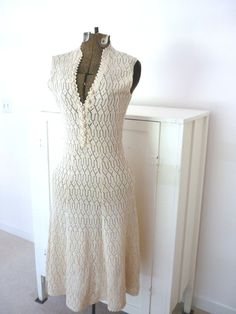 Vintage Cream Knit Perfect Dress