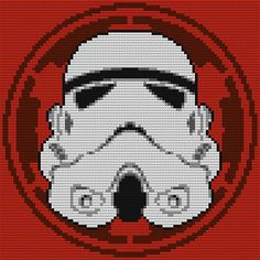 If you're looking to pimp out your home with a bit of geeky art, you definitely have to take a look at Douglas Bagnall's impressive Star Wars LEGO mosaics. Lego Star Wars, Star Wars Stormtrooper, Star Wars 7, Lego Design, Star Wars Characters, Legos, Cross Stitching, Pixel Art, Cross Stitch Patterns