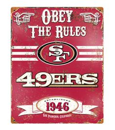 San Francisco 49ers NFL Vintage Sign