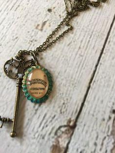 Sweet Patina Ouija Necklace by RingAroundRosey on Etsy