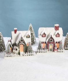 Vintage Putz Christmas Houses Bethany Lowe - The Holiday Barn