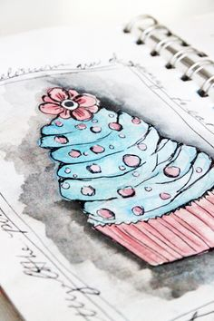 alisa burke--I think I could recreate this look for myself using a stamp pad  my water brush