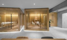 """VISION completed the design for the Ribo Fashion Group Zhimei Research and Development Center offices located in Shanghai, China. """"in the inner life Office Space Design, Modern Office Design, Workplace Design, Office Interior Design, Corporate Interiors, Office Interiors, Corporate Offices, Office Pods, Architecture Office"""