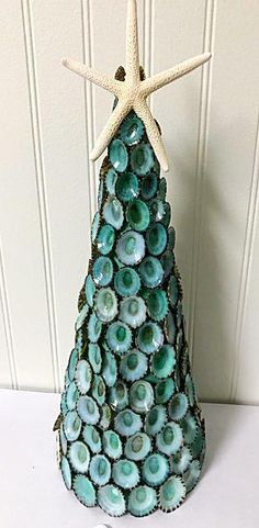 Seashell tree made of limpet shells