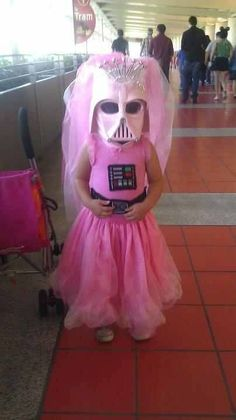 Princess Vader finds your lack of pink disturbing. (This is from her recent trip to Disneyland)