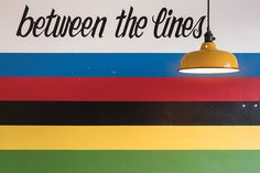'Ride between the lines' a handlettered piece by the talented local illustrator La Flèche, a detailed view of the retro upstairs room. Geneva, Illustrator, Retro, Room, Home Decor, Bedroom, Decoration Home, Room Decor, Illustrators