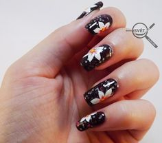 Mikrosvet by Ellen: NAIL ART: White flower with Beyond