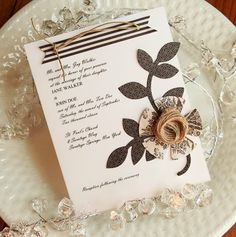 Cute invite or menu for fancy party or something
