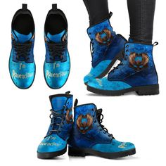 Harry Potter Women's Leather Boots I'm Ravenclaw - Gryffindor - Slytherin - Hufflepuff