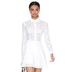 perspectiva branco slim vestido de renda bordado manga comprida casual dress roupas femininas vestidos novo 2014 haoduoyi vestido de inverno em Vestidos de Roupas & acessórios no AliExpress.com | Alibaba Group