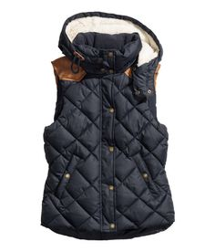 This is the H&M Dark Blue Padded vest, (I though it came in Black and would prefer Black) I wanted for Christmas and saw it at the H&M store.  I like Dark/Kaki Green over the blue ! :D