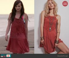 Jenna's red embroidered front beach dress on Awkward.  Outfit Details: http://wornontv.net/40756/ #Awkward