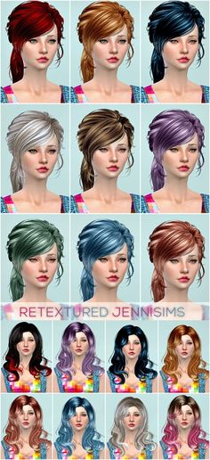 Newsea's Lucky Star   Anthem hair retextures at Jenni Sims • Sims 4 Updates