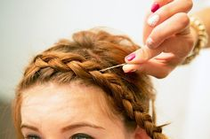 Pin for Later: DIY: The Easy Plait That Still Lets You Wear Your Waves  Huffnagle likes to use the end of a kirby grip to tuck stray hairs into your plait for a clean look. Source: Caroline Voagen Nelson