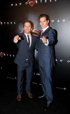Henry Cavill, Zack Snyder Red carpet arrivals at 'The Man Of Steel' premiere in Australia on June 24, 2013.