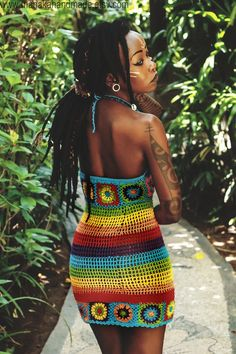 "manakahandmade: "" Manaka hand crafted crochet dress in Rainbow colours : : : : —————————————————————— Shop Online Here :. """
