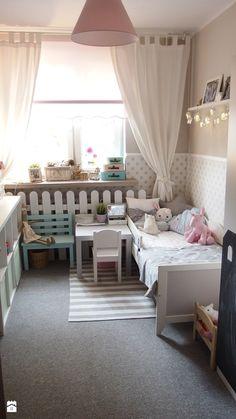 Mieszkanie hand made :) - Mały pokój dziecka dla dziewczynki dla malucha, styl…