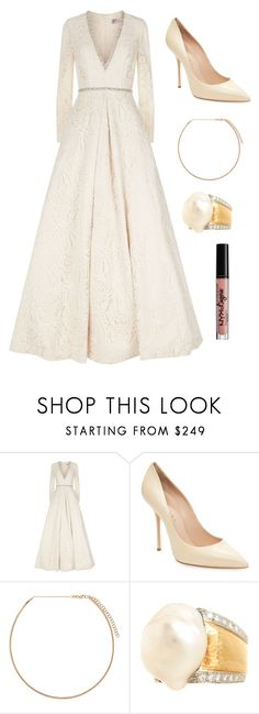 """Sans titre #10245"" by yldr-merve ❤ liked on Polyvore featuring Jovani, Casadei, Diane Kordas, David Webb and NYX"