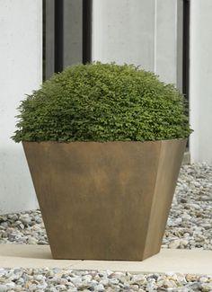 Davos Square GFRC (glass fiber reinforced concrete) planter made by Campania International