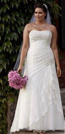 plus size wedding gown http://www.davidsbridal.com/