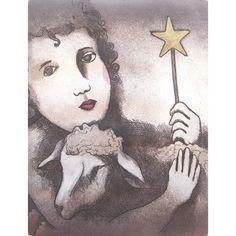 Peter Barger - Girl and Lamb hand colored etching image size x paper size x Hand Coloring, Paper Size, Lamb, Artist, Prints, Inspiration, Image, Inspiring Art, Biblical Inspiration
