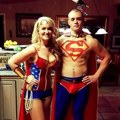 Made our own Halloween costumes .... superman and Wonder woman. Except the  sc 1 st  Pinterest & Jack and Coke Halloween Costume | brilliant | Pinterest | Coke ...
