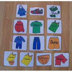 Picture Word Labels for Organizing Drawers