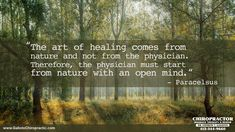 Chiropractic allows your body to use nature to heal. Chiropractic Quotes, Chiropractic Clinic, Massage Therapy, Natural Healing, Pain Relief, Pittsburgh, Mindfulness, Nature, Naturaleza