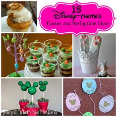 15 Disney-themed Easter and Springtime Ideas | Home is Where the Mouse is Disney Crafts | Disney Food |