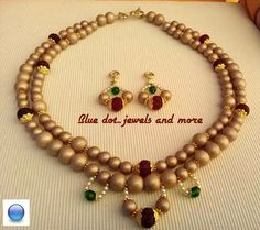 Bead stories by Blue dot..jewels and more..Necklace and earings with handmade finishings Bluedot.jewelsandmore@gmail.com