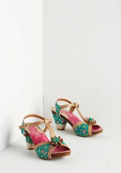 Special Occasion Shoes - Botanical Brilliance Heel
