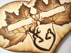 Deer Wedding Cake Topper Camo Hunting Leaves Autumn by RivdomArt, $24.50
