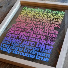 Somewhere Over The Rainbow Papercut - Someday I'll Wish Upon a Star artwork - Wizard of Oz artwork - gift for new baby - lyrics artwork by KyleighsPapercuts on Etsy Baby Lyrics, Somewhere Over, Over The Rainbow, Wizard Of Oz, New Baby Gifts, Paper Cutting, New Baby Products, Wish, Words