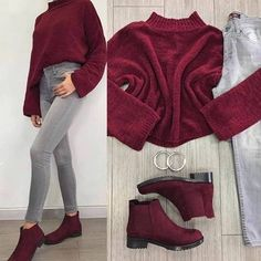 When it comes to pairing colors for your fall/winter outfits, it would seem at times easier to go for an all-plain-black theme outfit. Girls Fashion Clothes, Winter Fashion Outfits, Fall Outfits, Fashion Dresses, Fashion Hair, Teenager Fashion Trends, Outfit Combinations, Western Outfits, Cute Casual Outfits