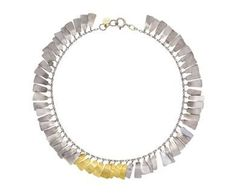 Sia Taylor - White and Yellow Gold Petal Bracelet in Designers Sia Taylor Bracelets at TWISTonline