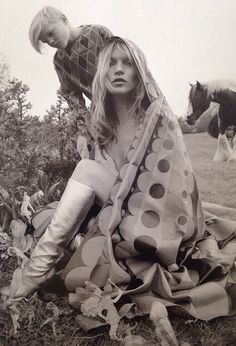 Kate Moss with gypsy horse