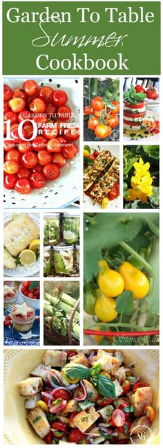 GARDEN TO TABLE 10 farm fresh recipes straight from the garden. A mini summer cookbook!