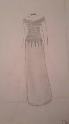 Dress White Dress, Drawings, Dresses, Fashion, White Dress Outfit, Gowns, Moda, La Mode, Sketch
