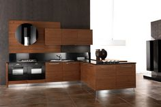 awesome Natural Walnut Kitchen Cabinets