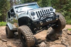 """TeraFlex Jeep Build: 2015 JKU Rubicon (Golden Eagle) 3"""" Outback Suspension System, 37"""" tires, 17.9"""" wheels, etc.  Click to view entire build list.  This Jeep became a fast favorite of our own and fans alike."""