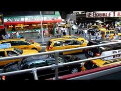 Traffic jam Times Square New York