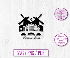 Amsterdam City Digital Download Decal by JumbleinkDesign on Etsy City Scapes, Amsterdam City, Handmade Items, Handmade Gifts, Decals, Cricut, Digital, Etsy, Kid Craft Gifts